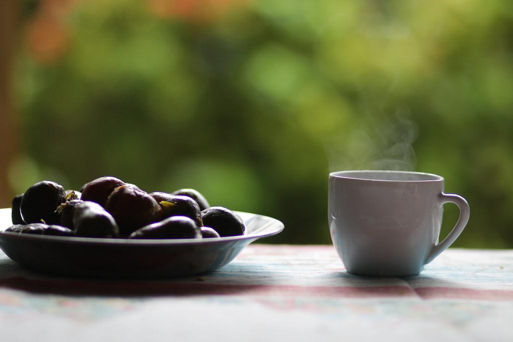 Pra curtir esse frio, só um café com pupunha ☕