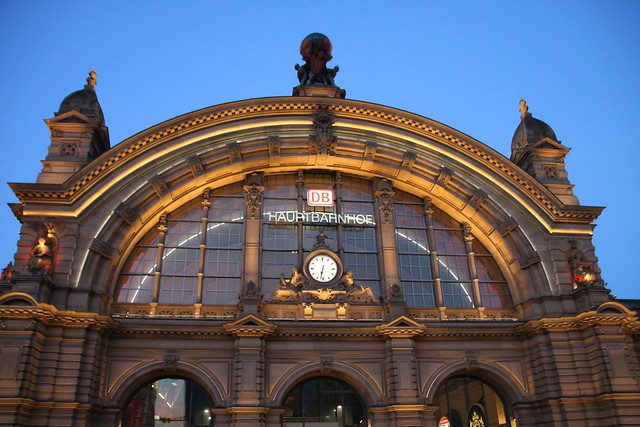 taking an early train from Frankfurt Central Station
