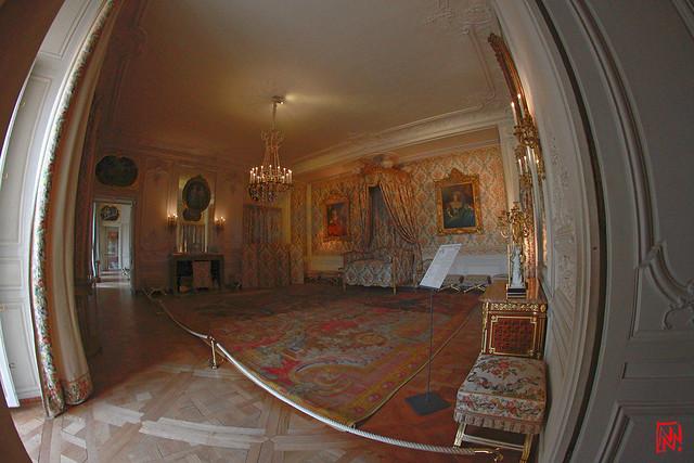 La chambre de Madame Adélaïde...au fisheye