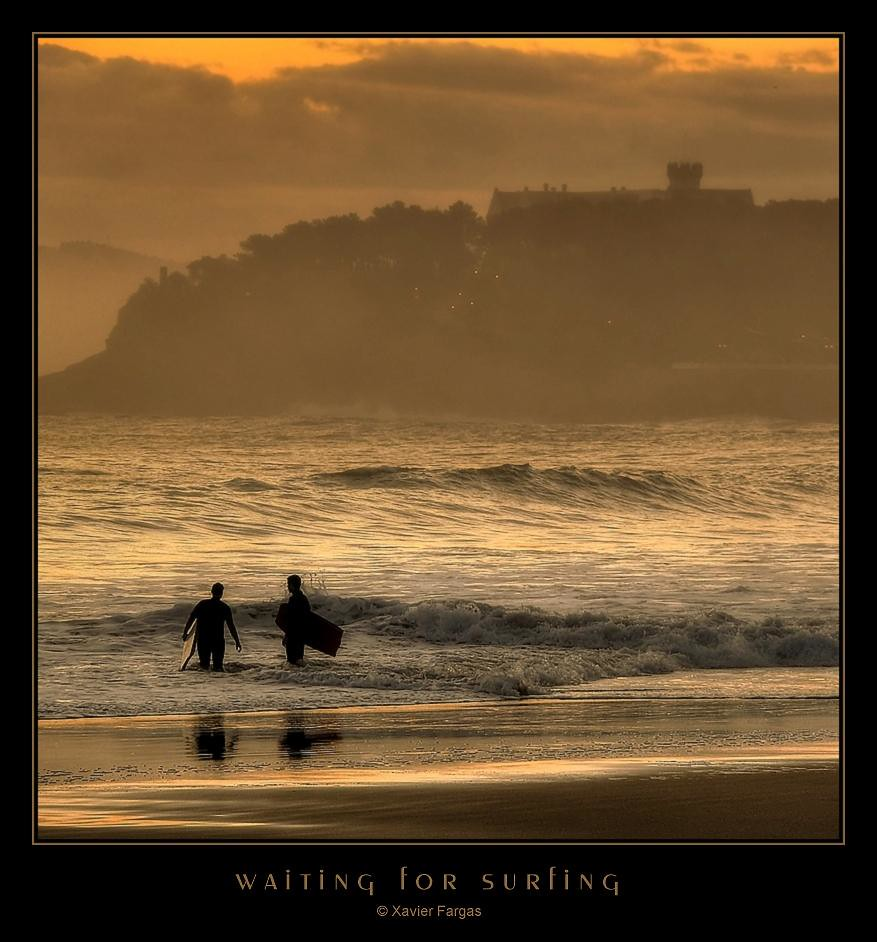 waiting for surfing