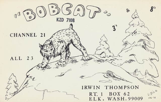 L Bice #106-75: Bobcat - Elk, Washington