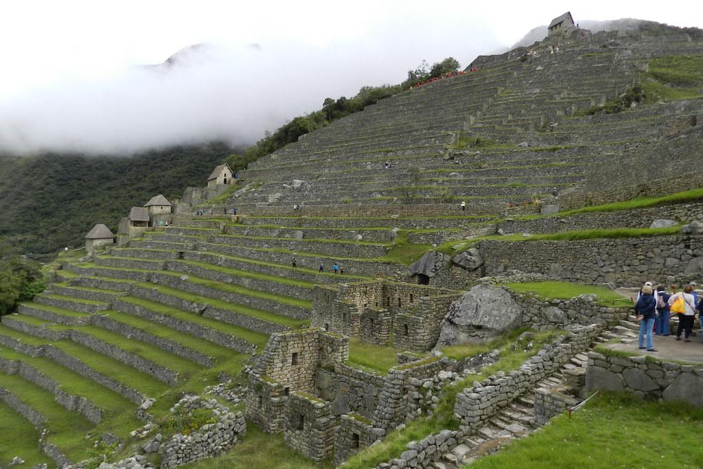 Peru Machu Picchu Terrazas De Cultivo Andenes Casa Del Gua