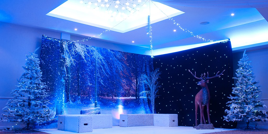 Winter Wonderland Christmas Theme.Winter Wonderland Themed Christmas Party At The Auction Ho