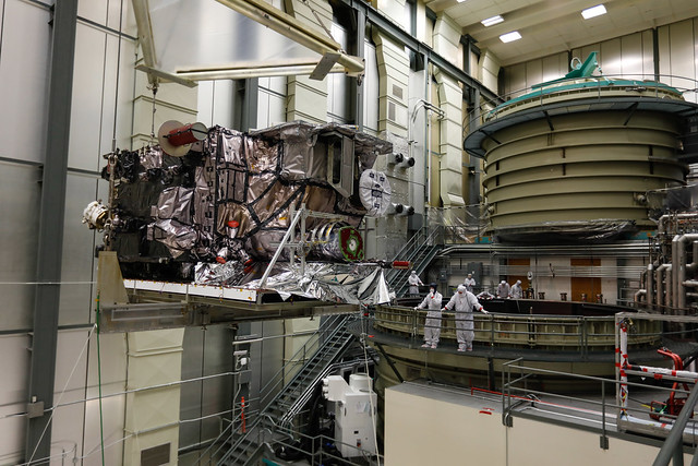 GOES-S Prepares to Enter Thermal Vaccum Chamber