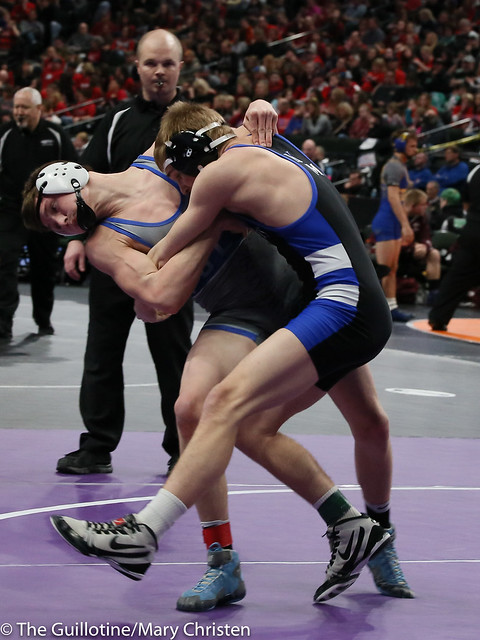 132 - Brady Laumb (Kasson-Mantorville) over John Dierkes (Foley) Dec 5-3