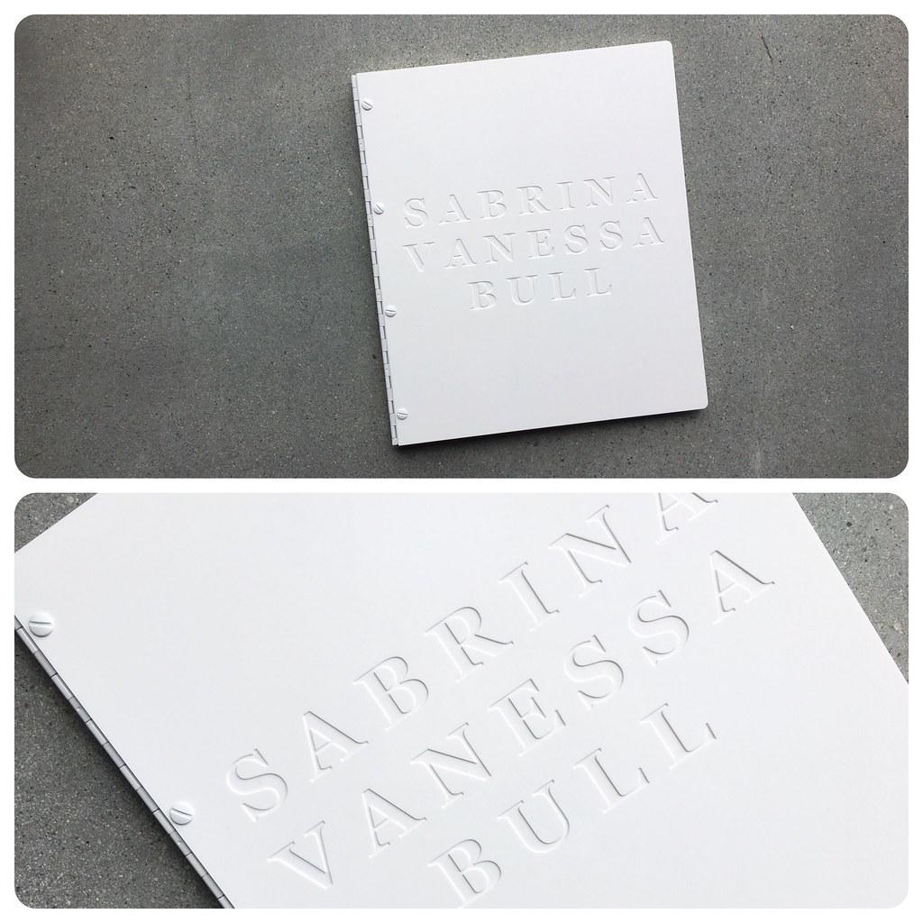 Custom fashion design portfolio book with engraving treatm… | Flickr