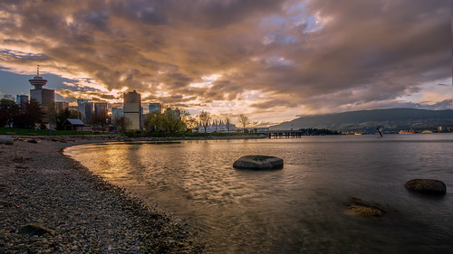 vancouver clouds sunset beach harbour fiery spring reflections crabpark eastside nikon d7000 dslr downtown portside rocky