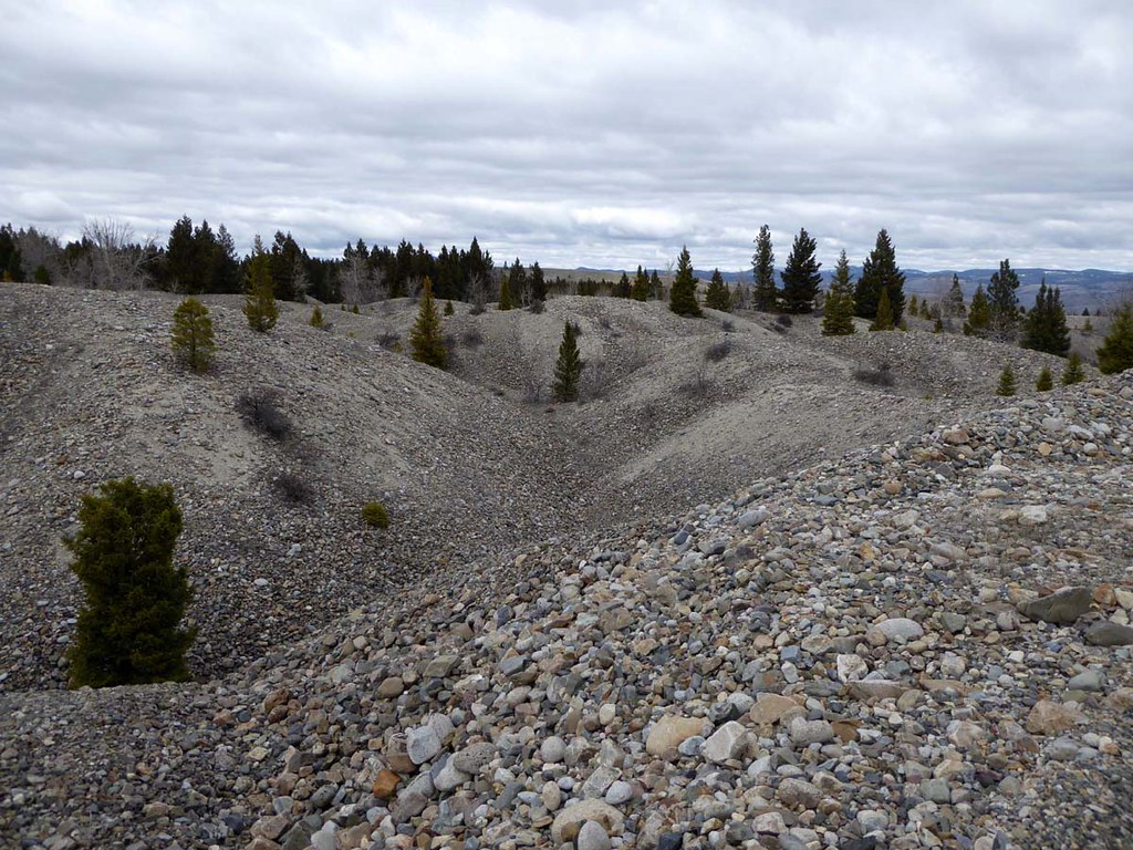 Pioneer, Montana | Powell County  Many dredge tailings can b