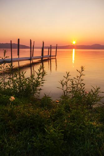 summer sky sun sunlight lake reflection water sunrise dock day shoreline newengland newhampshire clear shore gilford lakewinnipesaukee amesfarminn cliffordphotographynhcom