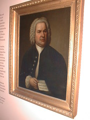 Portrait JS Bach with orb