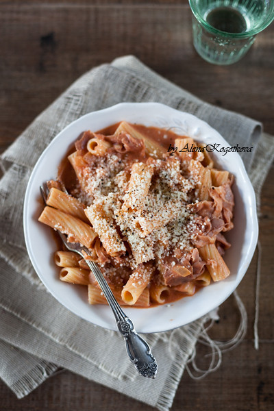 Pasta with Whisky and Tomato Sauce