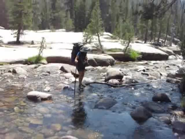 1193 Video of crossing Return Creek in Virginia Canyon on the PCT