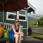 Waiting for our boat tour in Hanalei