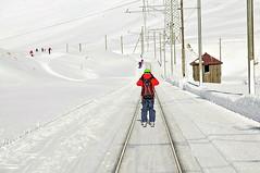 V oblasti Engadinu se na lyže jezdí po kolejích