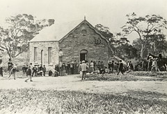 Bassett Boys Schoolroom, Willunga, c. 1865.