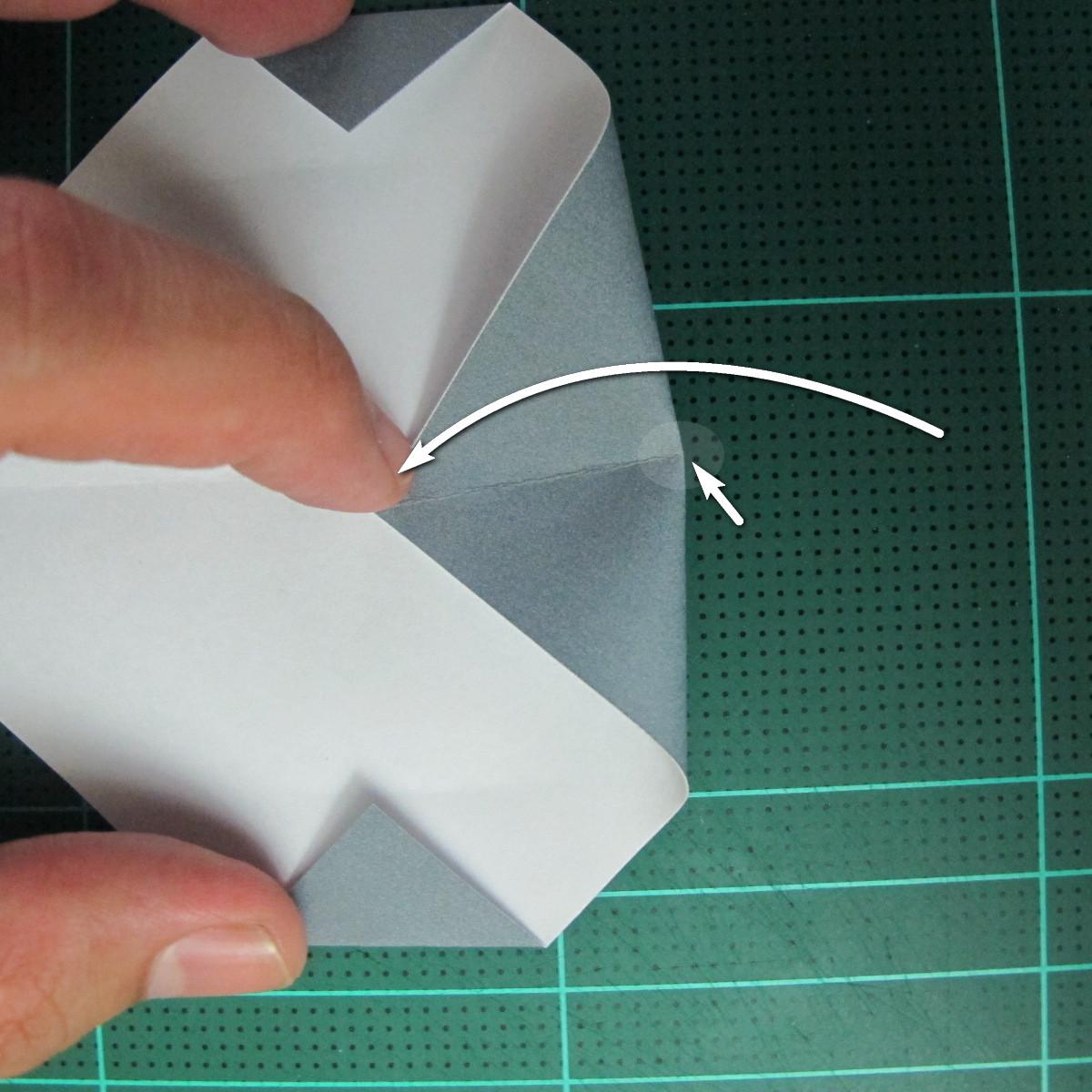 วิธีพับกระดาษเป็นรูปลูกสุนัข (แบบใช้กระดาษสองแผ่น) (Origami Dog) 012