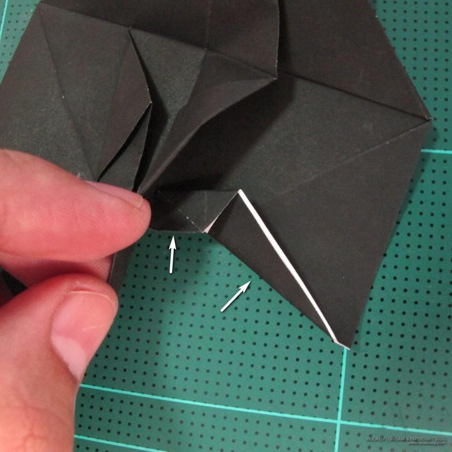 วิธีการพับกระดาษเป็นรูปจิงโจ้ (Origami Kangaroo) 008