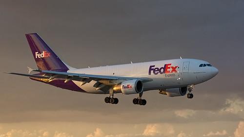fortlauderdale fll kfll fedex fdx n808fd airbus a310 a310324 f sunset