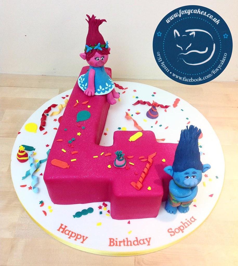 Groovy Trolls 4Th Birthday Cake Cake Eton Windsor Thefoxycak Flickr Funny Birthday Cards Online Elaedamsfinfo