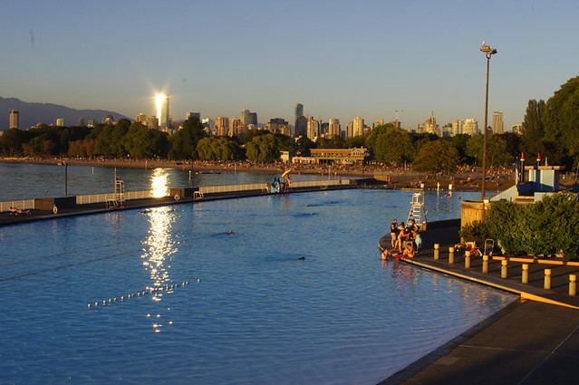 Kits Pool at Dusk