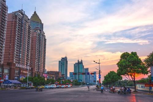 china road sunset gold xiaoshan