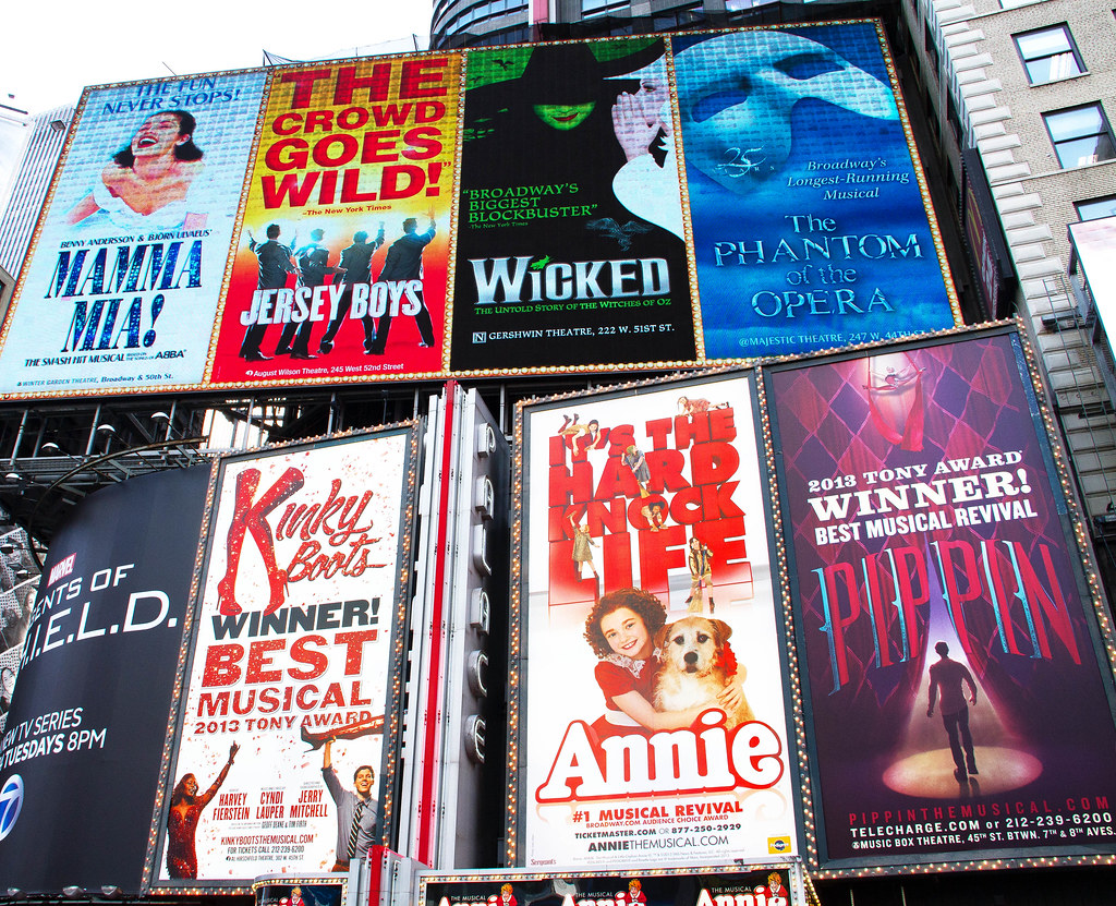 Broadway Billboards on Times Square