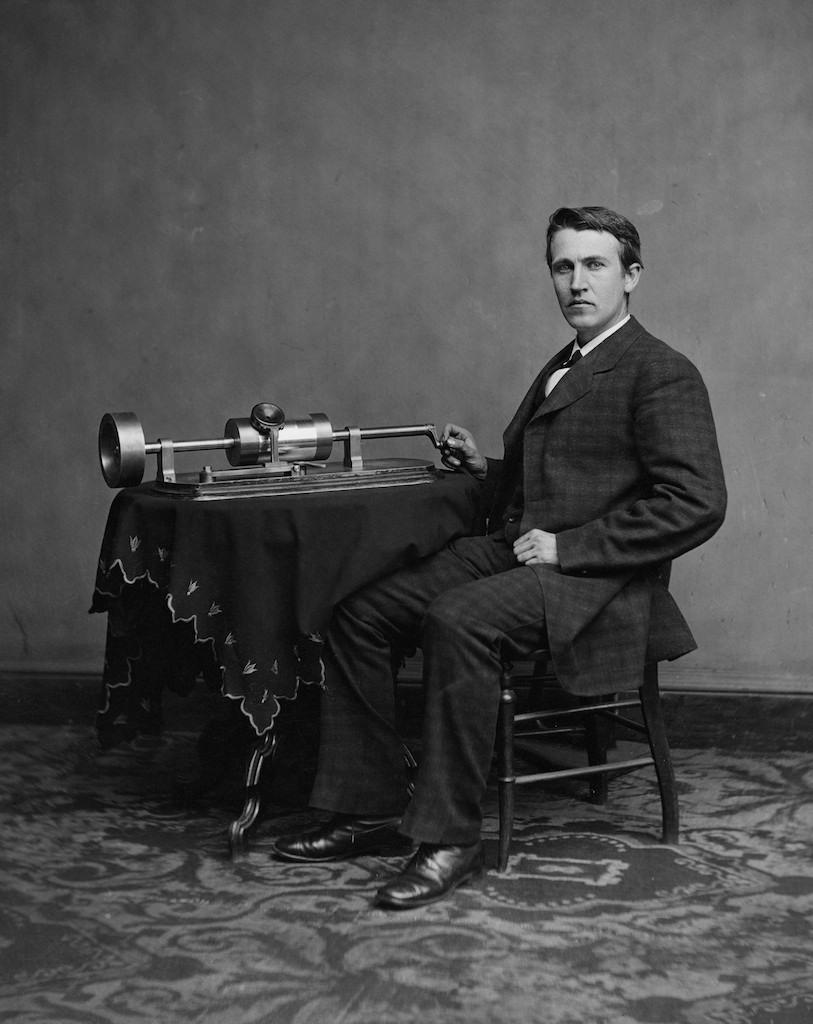 Thomas-Edison-phonograph-free-image-from-Wikipedia