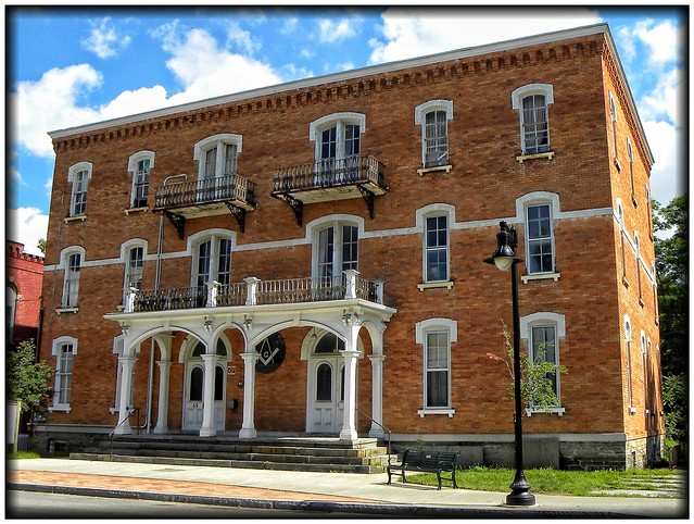 Trumansburg Village Ny ~ Masonic Hall ~ Historical Building