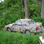 Car with stuff glued to it
