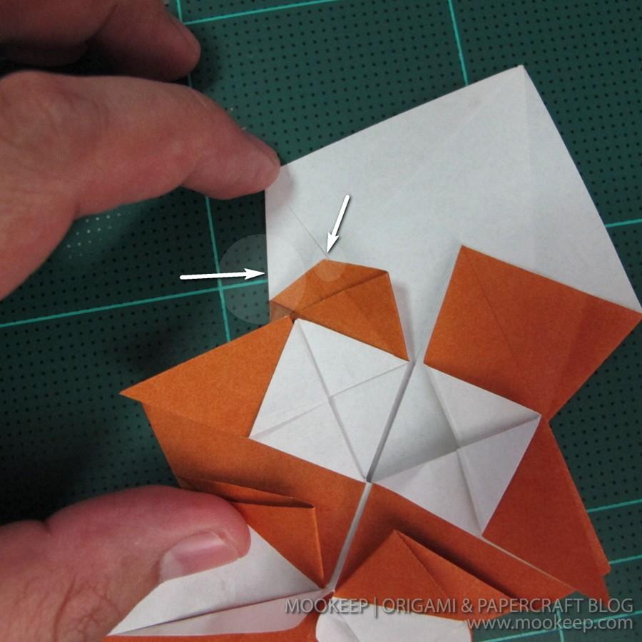 วิธีพับกระดาษเป็นรูปหมี (Origami Bear) 021