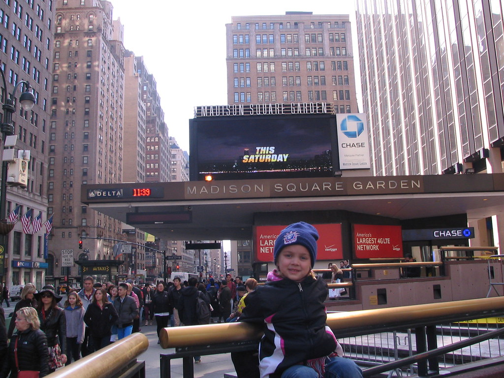 Outside The 7th Avenue Entrance To Msg Alexy Madison In Ma Flickr
