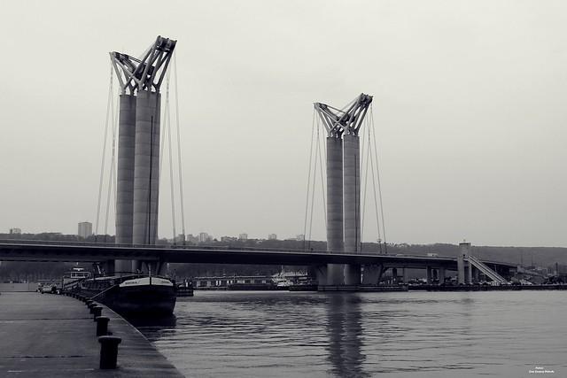 Le pont Gustave-Flaubert Rouen