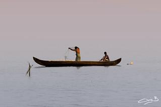 Fishermen on Lake Vembanad | by chris.bon