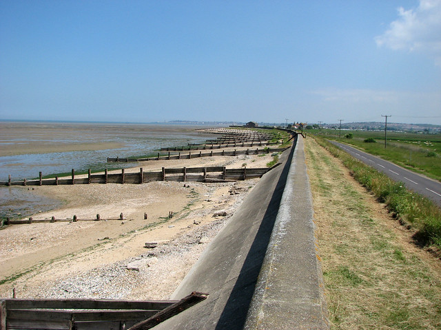 The Saxon Shore way on Graveney Marshes