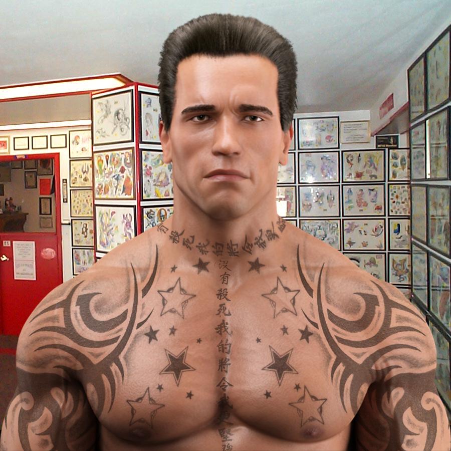 Arnold 3d Tattoo: Robert Bogdany