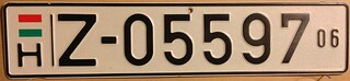 HUNGARY 2006, TEMPORARY LICENSE PLATE. | by woody1778a