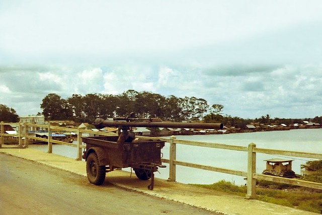 Gò Dầu Hạ Bridge - Hiếu Thiện District - Tây Ninh 1969 - Photo by Mike Belisle 2