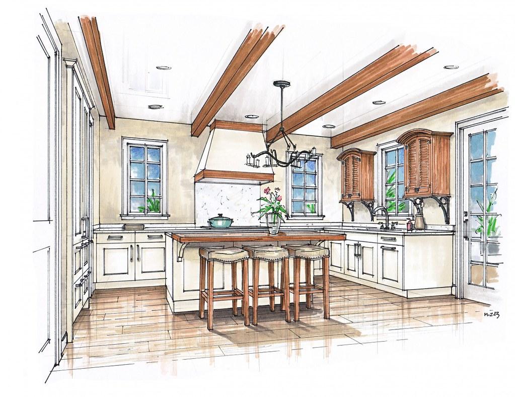 Kitchen Interior Design Sketches Kitchen Interior Design S