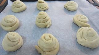 Chiocciole di pane al forno