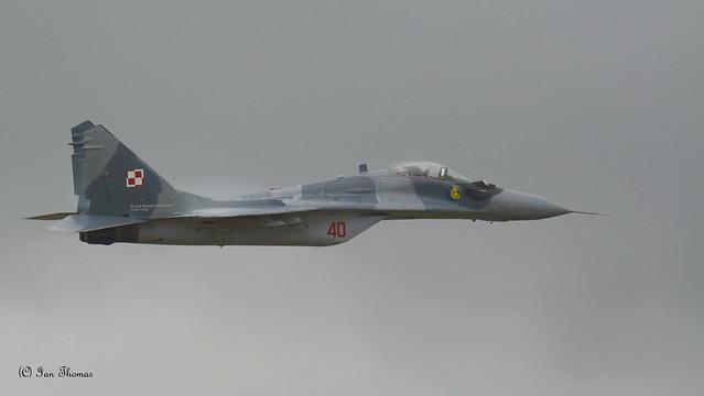 Mig 29 Fulcrum With Female Pilot At 20,000 ft