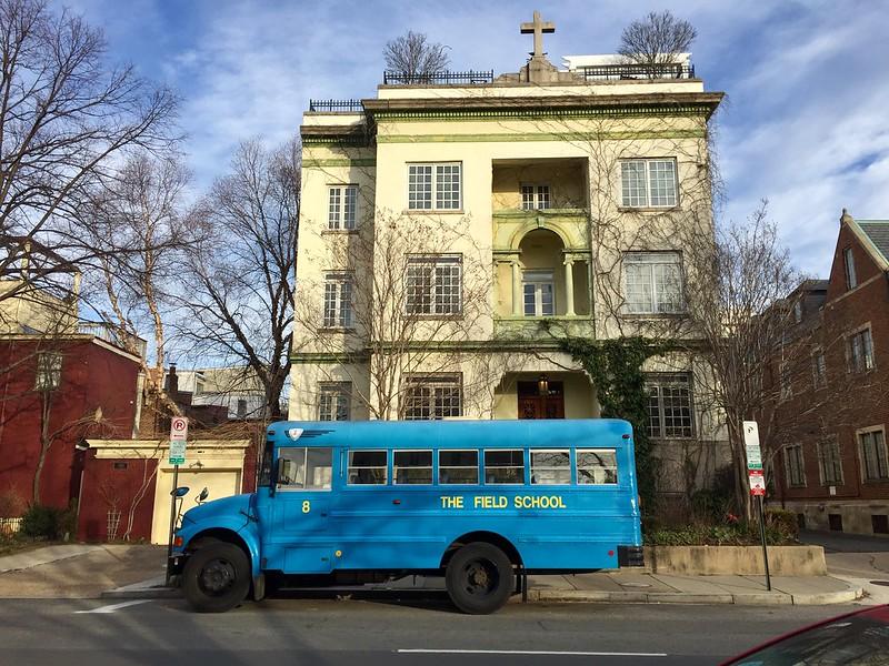 The Field School bus