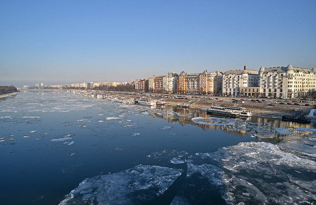 It's Cold in Budapest; Ice on the Danube