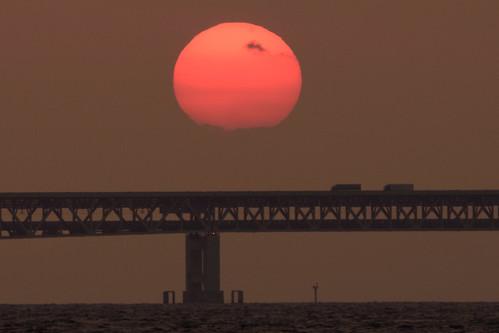 貝塚市 大阪府 japan sunset 関西空港 夕景 橋 bridge 海 seashore