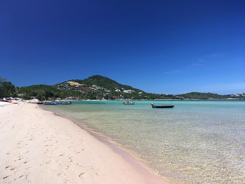 サムイ島 チャウエンビーチ北端