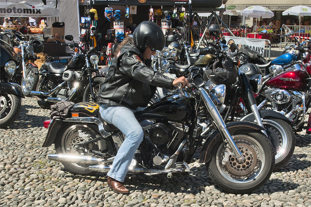 Harley Davidson Parade in Locarno. August 25, 2013.No.8426