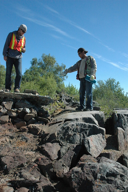 Great Slave Lake Elders Tour - Assay Building Concrete Pad