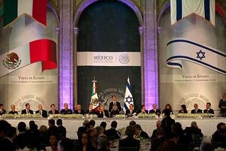 Cena en honor del señor Shimon Peres, Presidente del Estado de Israel.