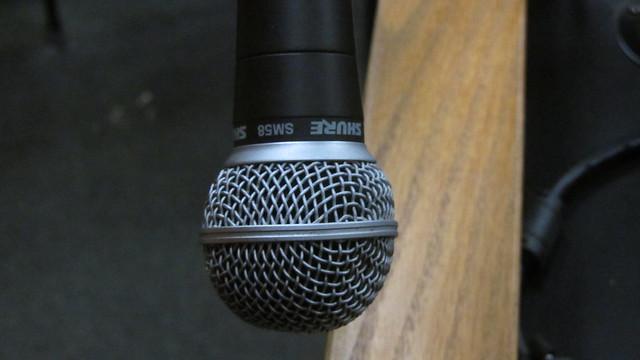 IMG_5629 Farrand Hall Shure SM58 microphone