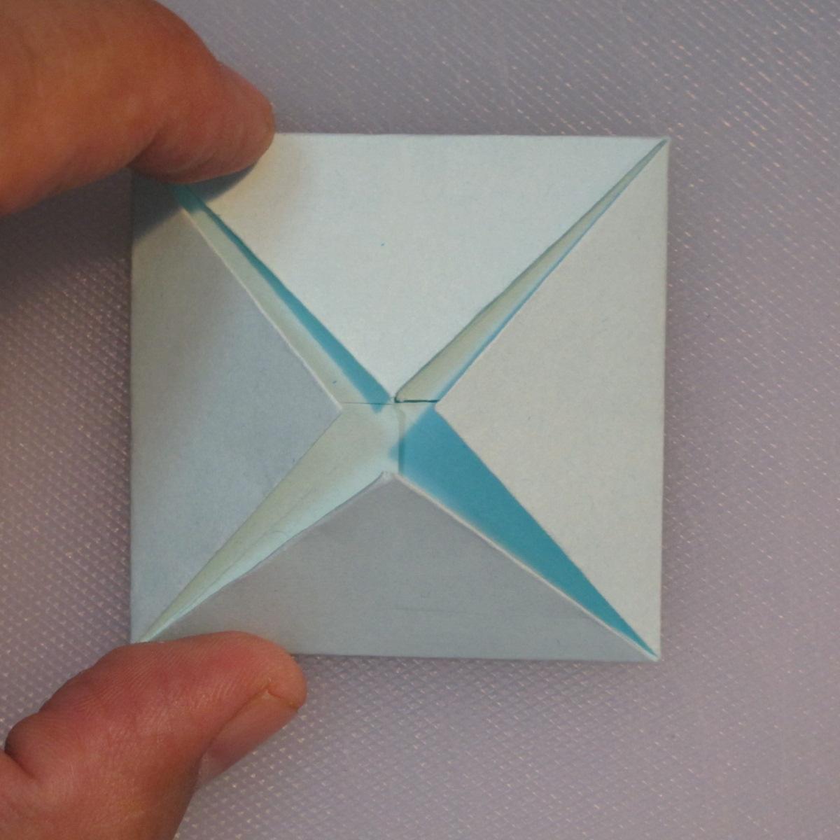 วิธีการพับกระดาษเป็นรูปโบว์ติดกล่องของขวัญ 005