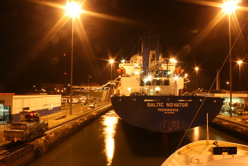 "Variety Voyager at Miraflores locks, behind ""Baltic Novator"" @ Panama Canal. 